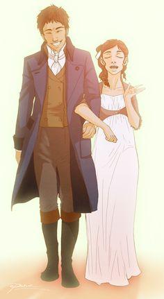 Mr. & Mrs. Fitzwilliam Darcy-they look cute