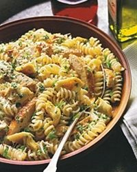 Grilled-Chicken Pasta Salad with Artichoke Hearts - looks good