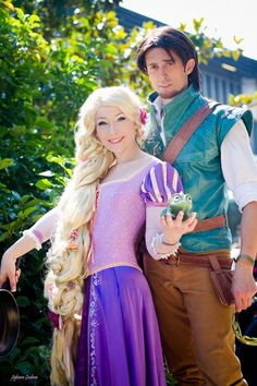 Rapunzel and Flynn Best Halloween Costumes Ever  sc 1 st  Pinterest & 53 best I just wanna be a princess images on Pinterest | Cosplay ...