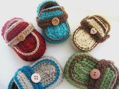 Boy's Moccasins Crochet Baby Booties por CrochetBabyBoutique