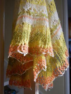 Free Pattern: Icelandic Modern Lace Shawl by Evelyn A. Clark