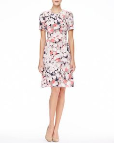 Kate Spade New York Joilet Short-Sleeve Printed Silk Dress on shopstyle.com.au