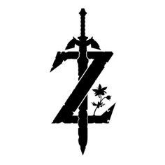 Zelda - Breath of the Wild Logo Stencil