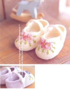 Вязаные туфельки ...от Asahi Original (Япония)