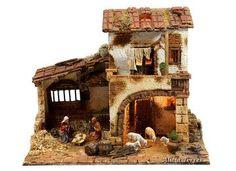 Portal, Nativity, Christmas Crafts, Cabin, House Styles, Bethlehem, Painting, Photos, Christmas Ornaments