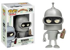 Figurine Funko-Pop Cartoon Series Futurama Bender
