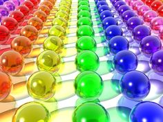rainbow - glass/marbles