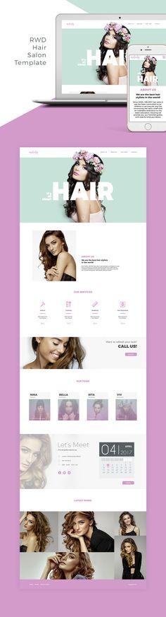 """Popatrz na mój projekt w @Behance: """"RWD Hair Salon Template"""" https://www.behance.net/gallery/50772609/RWD-Hair-Salon-Template"""