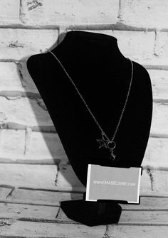 Want my work pass on this Necklace Lanyard by Masie Jane - Black Double Star Charm