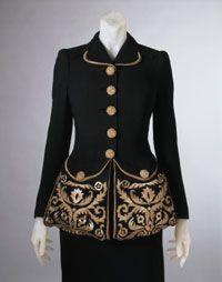 Woman's Dinner Jacket, by Elsa Schiaparelli, spring 1940, Philadelphia Museum of Art, 1969-232-71a,b
