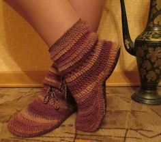 Zapatillas Botines en Crochet Tutorial - moma is making me these
