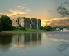 Carew Castle in Pembrokeshire, Wales. Margaret Carew(1395-1456) my 16yj great grandmother lived there.