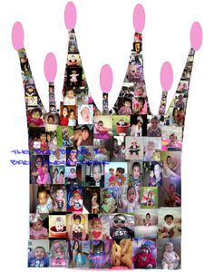 Personalized Girls Princess Crown Photo Collage.  Such a cute idea for birthday centerpiece! Add any name. by TheBudBomb, $18.00
