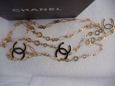 Hot Designer Necklace France Flapper Station Gold Tone Hot Logo 40