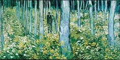 """Undergrowth with two Figures, 1890  A print of this is in my living room after not being able to purchase """"Irises, 1889""""in the 1980's because at that time it was owned privately and had not been reproduced.  This was in the day of no internet - I called NY Museum of Art & researched.  A month later, Irises, 1889 was the highest sold painting in history (at that time).  I am writing about the """"Irises """" growing wild in a field, not the ones in vases.   This painting has quite the analysis…"""