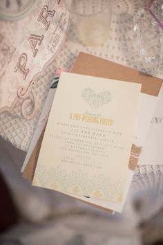Mrs. Wallaby used a free template from The Sweetest Occasion for her rehearsal dinner invitations, which were printed at home on cream-colored cardstock. Photo by Mustard Seed Photography