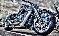 Hämta bilder Harley-Davidson, HDR, lyx motorcykel, chopper, Amerikanska motorcyklar