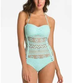 Mint lace swim suits