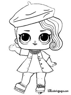 LOL Surprise Doll Coloring Pages – Free Printable Coloring . Barbie Coloring Pages, Unicorn Coloring Pages, Cute Coloring Pages, Cartoon Coloring Pages, Animal Coloring Pages, Adult Coloring Pages, Coloring Books, Frozen Coloring, Printable Coloring Pages