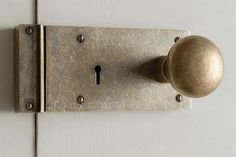 Jim Lawrence This charming door knob and lock from Jim Lawrence is full of rustic character. Let it complement your country home, or creating a constrasting, interesting effect in a town house.