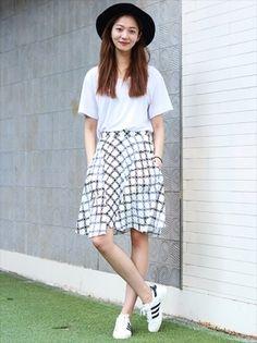 패션 치마 모자 여름 운동화 신발