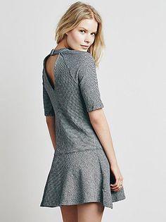 NWT Free People Next Dimension Mod Mini Dress 100% Cotton Black/White Stripe S. #FreePeople #Versatile