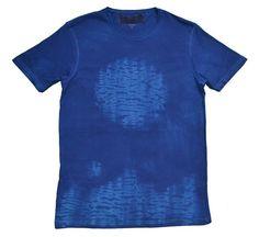 Camisetas con motivos - Camiseta Chico Estampado Azules - estampado a mano por indigoestampacion en DaWanda 19,00 €