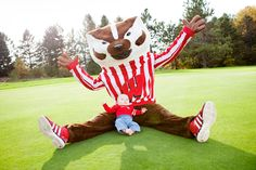 You're never too young to pose with Bucky!