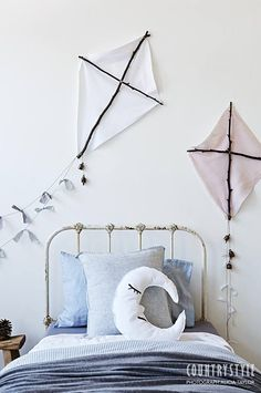 DECORATING THE WALL WITH KITES