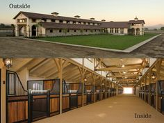 Outside-Inside of this beautiful barn! What does your dream barn look like? #besthorsestalls #CEE #classicequine #dreambarn