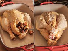 pollo relleno Más Low Carb Recipes, Cooking Recipes, Healthy Recipes, Turkey Recipes, Chicken Recipes, Pollo Chicken, Salty Foods, Food Decoration, Latin Food