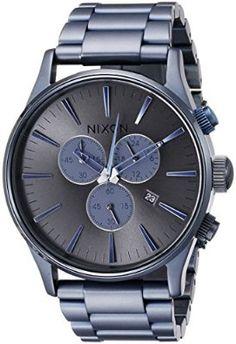 Nixon - A3861679-00 - Montre Homme - Quartz Chronographe - Bracelet Acier Inoxydable Bleu