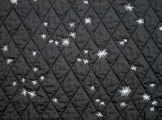 quilts made with an accurate star chart of the sky. And another one goes on the list (maybe in m size rather than halfpint though!)