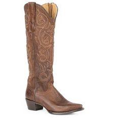 Stetson Blair Brown Snip Toe Boot Brown