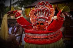 All red... - Theyyam performance in Kerala.