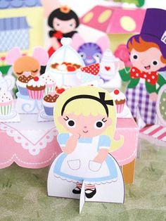 Alice in Wonderland Printable Playset.