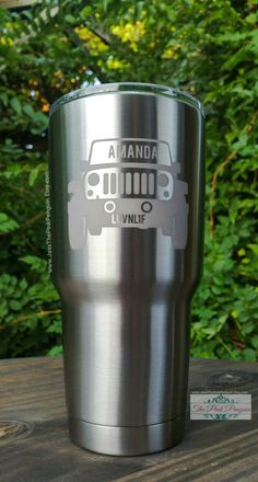 Hey, I found this really awesome Etsy listing at https://www.etsy.com/listing/453794754/jeep-decal-custom-tumbler-yeti-tumbler