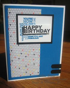 masculine happy birthday card, delightful dozen stamp