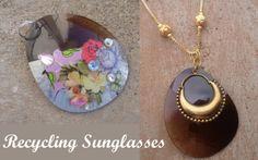 DIY Sunglasses Pendant | Divya N. from Jewels of Sayuri via. Cut Out and Keep