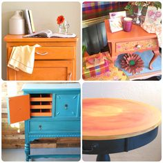 See a few of our favorite projects finished in Barcelona Orange Chalk Paint® decorative paint by Annie Sloan, our Color of the Month for October 2015 | The Palette Blog