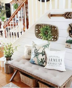 This darling farmers market pillow cover will certainly add farmhouse charm to any room in your home. (Photo by @simple.joy.at.home)