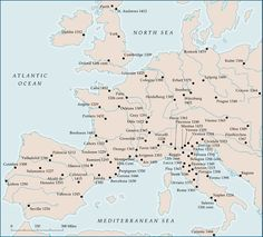 Medieval Universities, Europe.