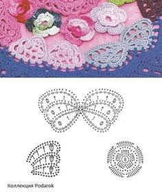 With over 50 free crochet butterfly patterns to make you will never be bored again! Get your hooks out and let& crochet some butterflies! Crochet Ripple, Crochet Diagram, Crochet Chart, Irish Crochet, Crochet Stitches, Crochet Butterfly Pattern, Crochet Applique Patterns Free, Crochet Flowers, Butterfly Scarf