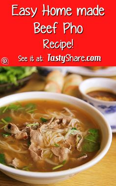 Tasty! try your hand at making some beef pho for the family. Perfect on those cold winter nights.
