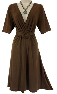 XL X-LARGE SEXY Womens ULTRA-SOFT CHOCOLATE DRESS Spring Summer Wedding Party #Unbranded #Versatile