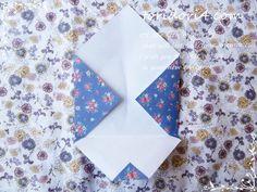 ハサミいらず!あっという間にできる折り紙封筒の作り方