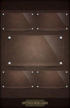 Brown Sponsor Board PSD File