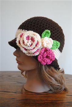 Red Heart Spring Blossom Cloche - Crochet Me