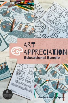 Here's a printable bundle to share art appreciation with your young students! #homeschooling #elementaryschool #artclass #artteacher #learnathome #distantlearning Homeschool Curriculum, Homeschool Kindergarten, Homeschooling, Art Activities, Teaching Art, Art Music, Art Classroom, Classroom Ideas, Art Education