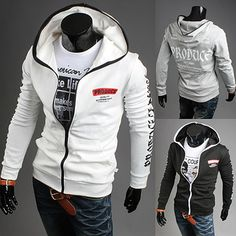 Produce Designer Full Zip Slim Fit Men Hoodie Jacket  42854d649031